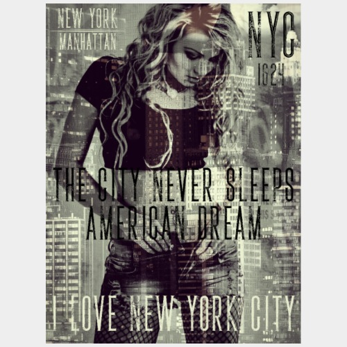 NEW YORK - THE CITY NEVER SLEEPS - DB #1 (W) - Männer Premium T-Shirt