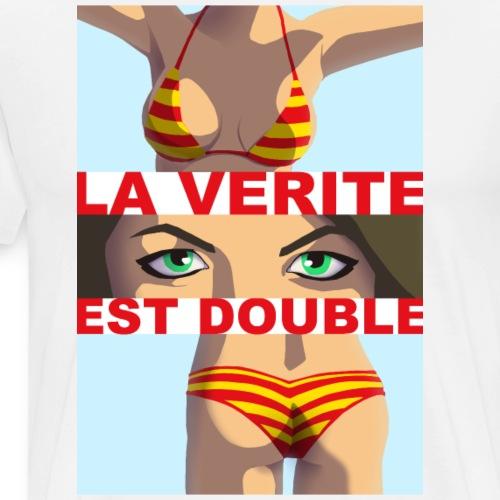 La Vérité est Double - T-shirt Premium Homme
