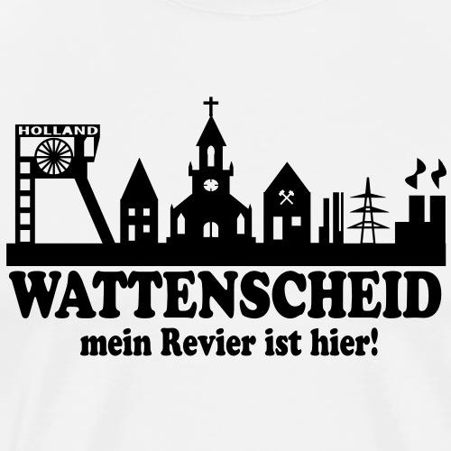 Skyline Wattenscheid - Mein Revier ist hier - Männer Premium T-Shirt