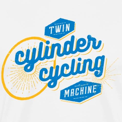 Twin cylinder cycling machine - Men's Premium T-Shirt
