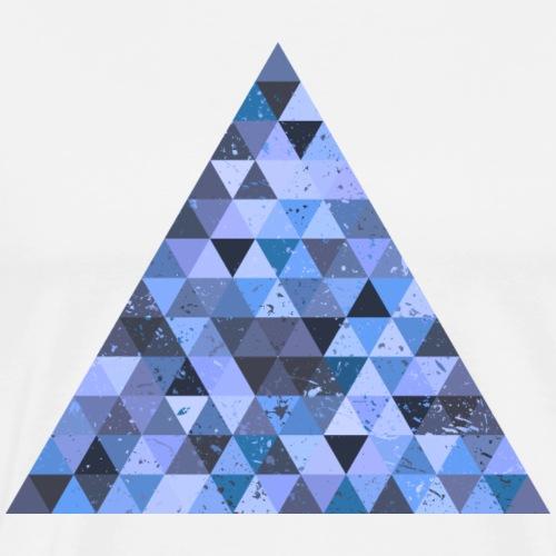 Dreieck Geek Hipster Ornament Grunge Diamant Retro - Men's Premium T-Shirt