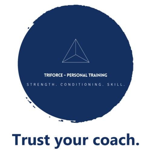 Triforce blend (blue) - Trust your coach - Männer Premium T-Shirt