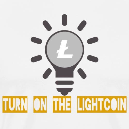 Turn on the Lightcoin - Männer Premium T-Shirt