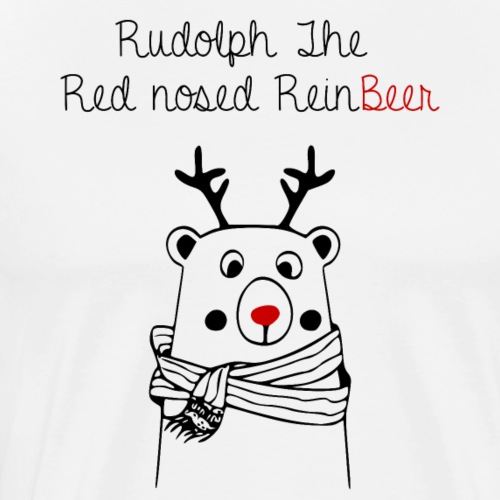 Rudolph the ReinBeer - Men's Premium T-Shirt