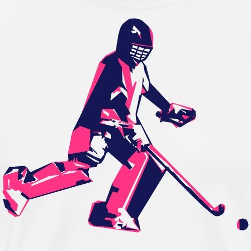 Veldhockey keeper - Mannen Premium T-shirt