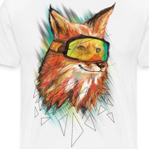Hipster Fuchs - Männer Premium T-Shirt