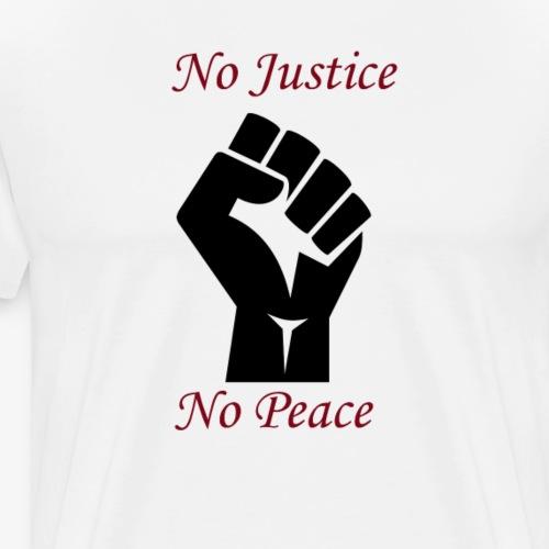 No Justice, No Peace - révolte - T-shirt Premium Homme