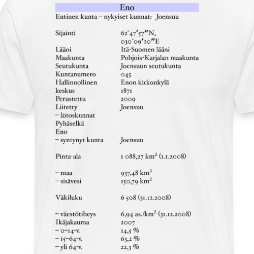 Tilastollinen Eno - Miesten premium t-paita