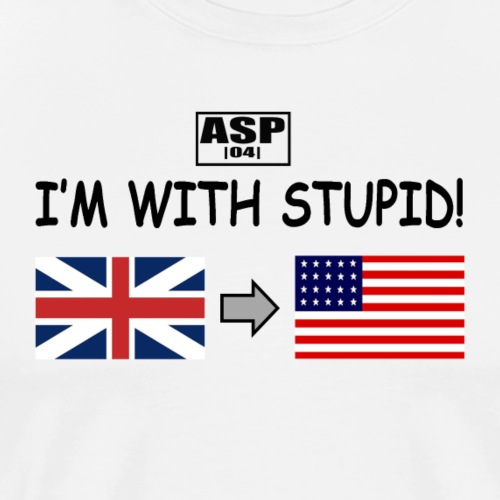 I'm with stupid ASP - T-shirt Premium Homme
