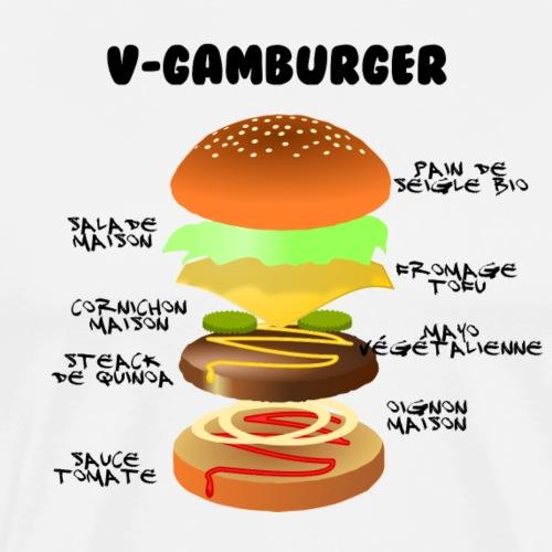 v-gamburger - T-shirt Premium Homme