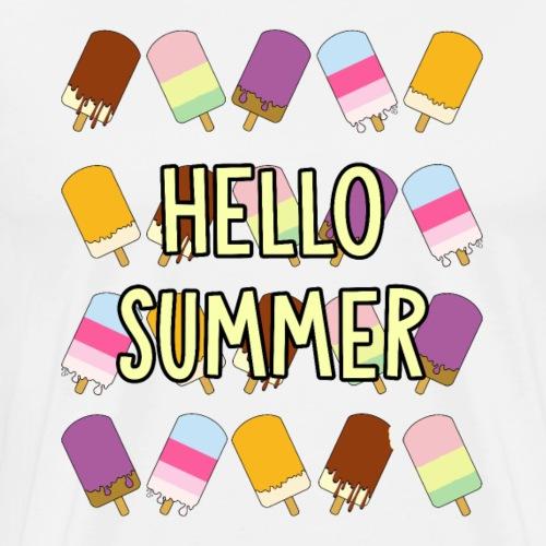 Hello Summer - Herre premium T-shirt