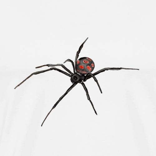 Spinne - Schwarze Witwe - Aquarell Zeichnung - Männer Premium T-Shirt