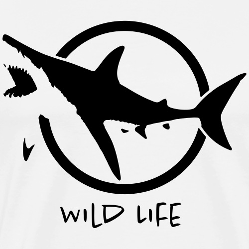 Wild Life - SHARK - T-shirt Premium Homme