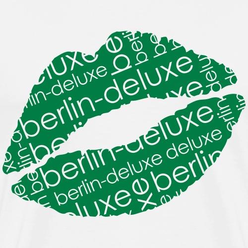 Berlin Deluxe Lippen Motiv - Männer Premium T-Shirt