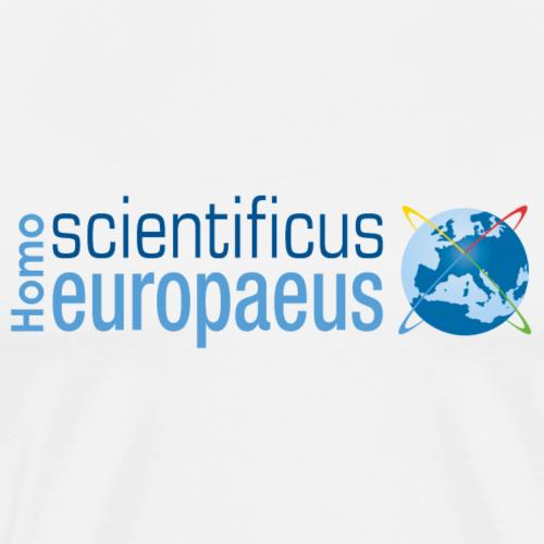 Homo scientificus europaeus logo - blue - Men's Premium T-Shirt