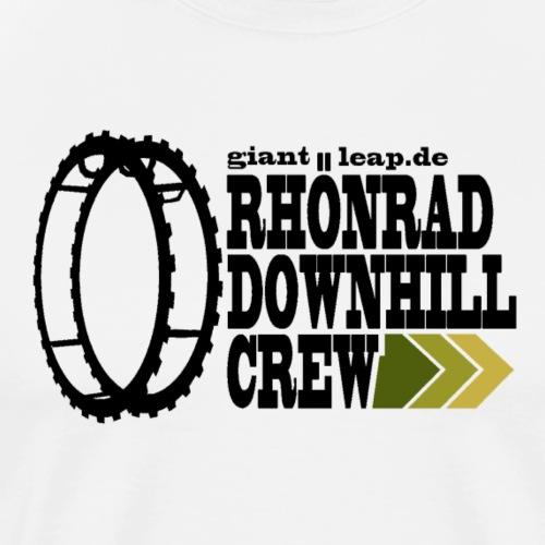 rhoenraddownhill_schwarz_druck - Männer Premium T-Shirt