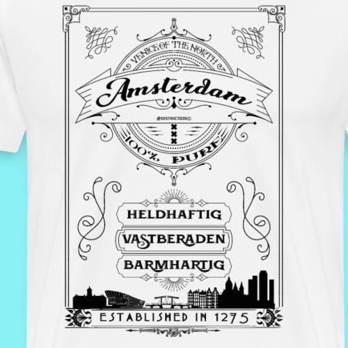 Amsterdam venice of the north black - Mannen Premium T-shirt