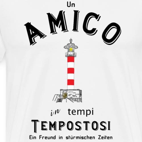 Freund in stürmischen Zeiten, Italienisch/Deutsch - Männer Premium T-Shirt
