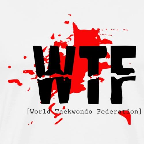 World Taekwondo Federation - WTF - Herre premium T-shirt