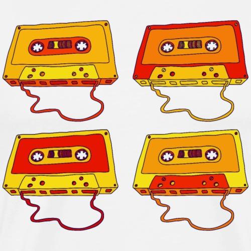 Musikkassette compact cassette magnetic tape Retro - Men's Premium T-Shirt