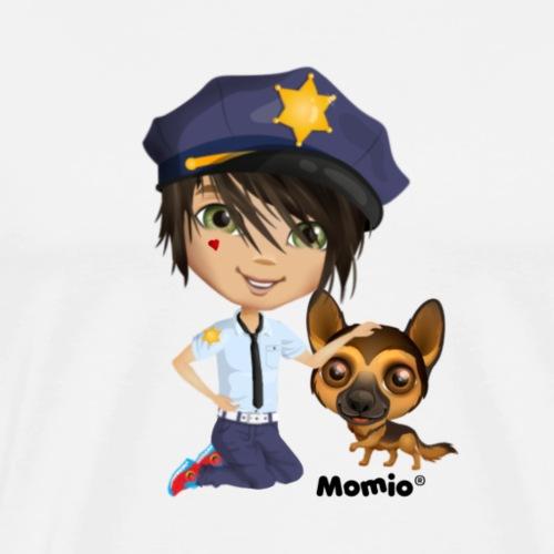 Jack and dog - av Momio Designer Cat9999 - Premium T-skjorte for menn