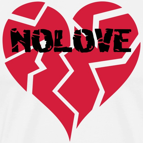 NO LOVE | Broken Heart - Men's Premium T-Shirt