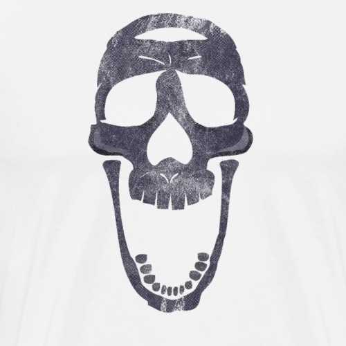 skull scary face - Camiseta premium hombre