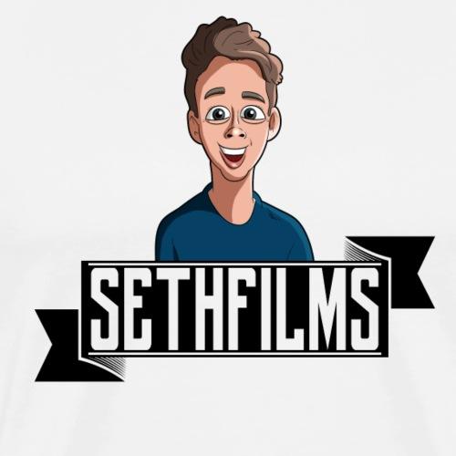 SETHFILMS BLACK png - Men's Premium T-Shirt