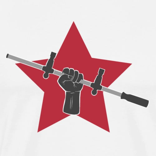Kickerfaust mit Stern - Männer Premium T-Shirt