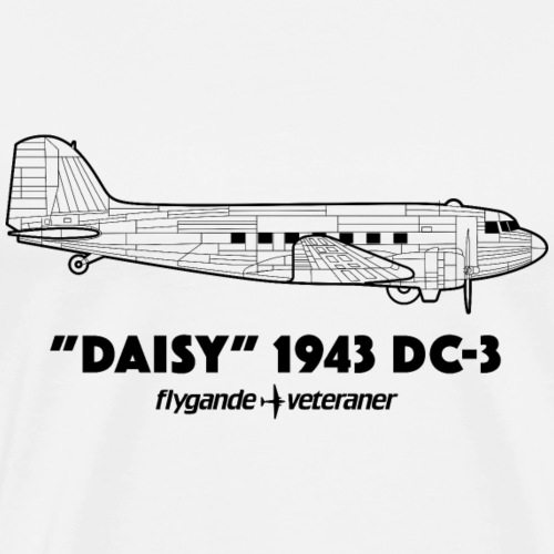 Daisy Blueprint Side 1 - Premium-T-shirt herr