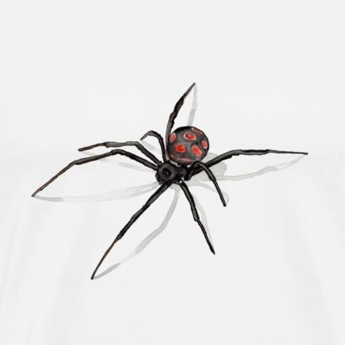 Spinne mit Schatten- Black Widow - Zeichnung - Männer Premium T-Shirt