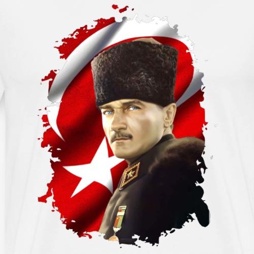 Ulu Önder Mustafa Kemal Atatürk - Männer Premium T-Shirt