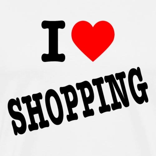I Love Shopping (Ik Hou van Winkelen) - Mannen Premium T-shirt