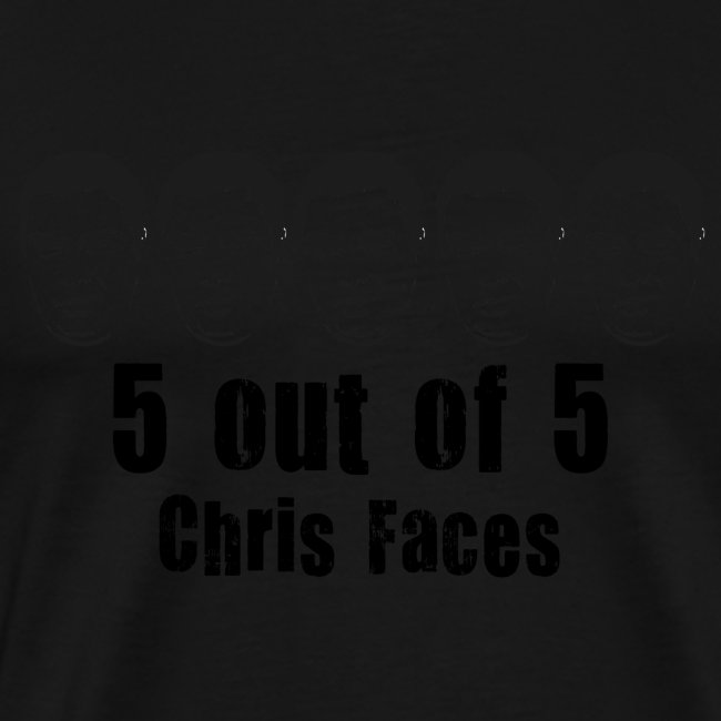 chris faces tshirt black