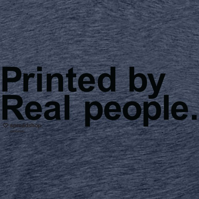 Printed in black