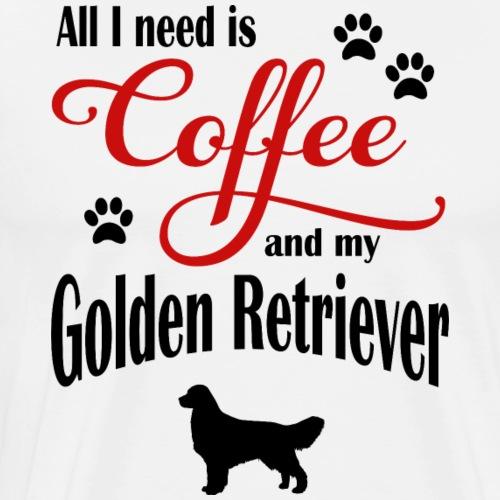 Golden Retriever Coffee - Männer Premium T-Shirt
