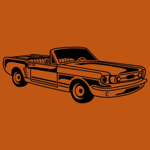 Cabrio / Muscle Car 02_schwarz - Männer Premium T-Shirt