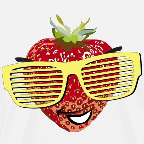geile Erdbeere coole Sonnenbrille Hipster sunglass - Men's Premium T-Shirt