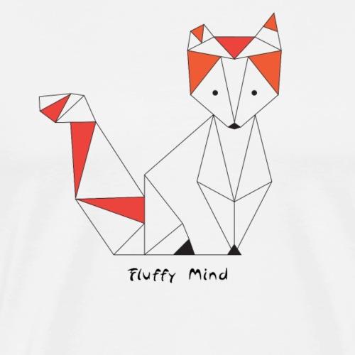Renard origami design - T-shirt Premium Homme