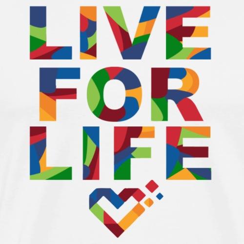 LiveForLife - Rainbow | Typo (rainbow) - Männer Premium T-Shirt