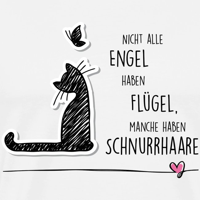 CAT ANGEL - Männer Premium T-Shirt