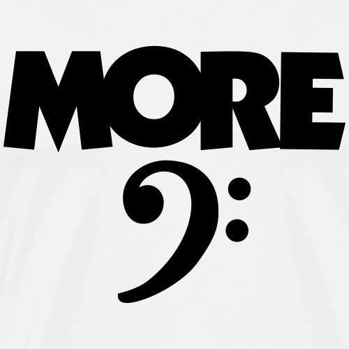 More Bass (Schlüssel) Schwarz - Männer Premium T-Shirt