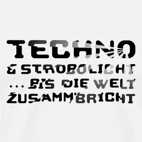 Techno & Strobo II - Männer Premium T-Shirt