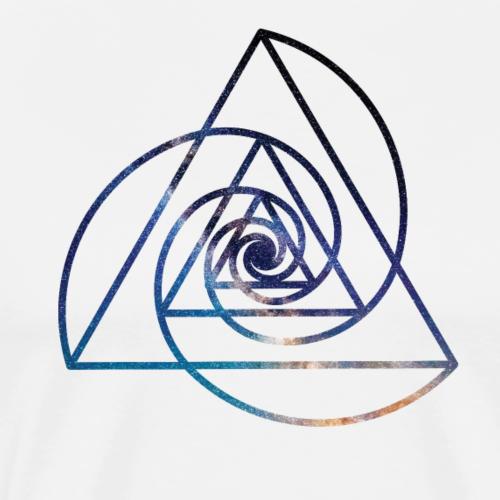 Spiral triangle - Men's Premium T-Shirt