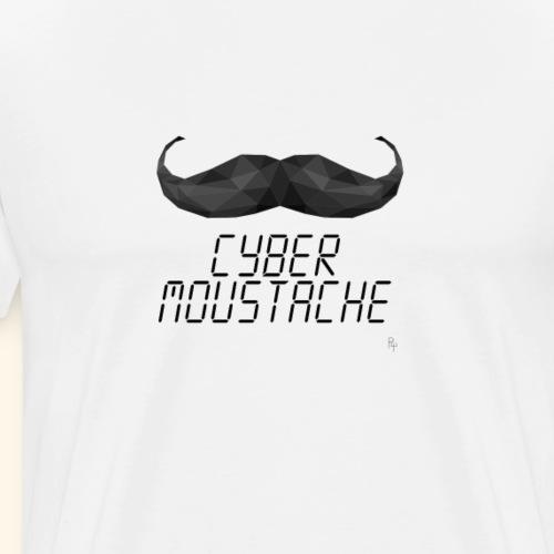 Cyber Moustache - Maglietta Premium da uomo