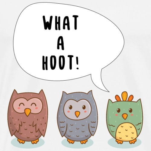 Comic Eulen - What a hoot! - Männer Premium T-Shirt