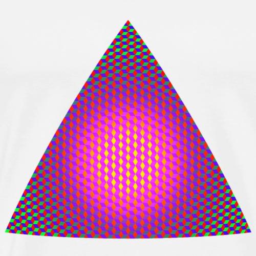 Triangle made of Rhombus Elements - Men's Premium T-Shirt