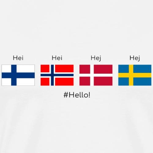 Dites 'Bonjour'! - T-shirt Premium Homme