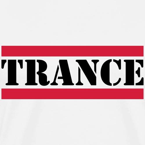 Trance mit roten Linien - Männer Premium T-Shirt