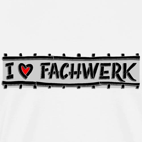 I love FACHWERK stud - Mannen Premium T-shirt